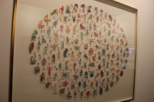 Carlos Aires - There was no title but it is mounted cutouts using the different currencies of the world